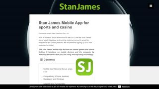 Stan James Mobile App for sports and casino – Stan James ...
