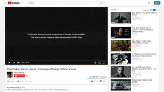 Stan Walker, Parson James - Tennessee Whiskey (Official ...