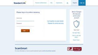 Standard Life UK Online Servicing