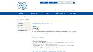 Student Email - Santa Monica College
