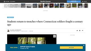 Students return to trenches where Connecticut ... - Hartford Courant