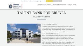 Talent Bank for Brunel