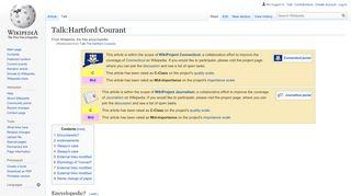 Talk:Hartford Courant - Wikipedia
