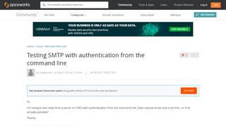 Testing SMTP with authentication from the command line ...