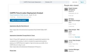 Texas Comptroller of Public Accounts hiring CAPPS Time & Labor ...