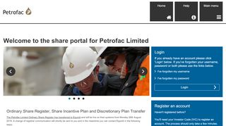 the share portal for Petrofac Limited