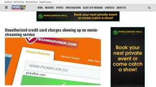 Unauthorized credit card charges showing up on …