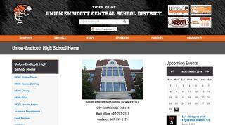 Union-Endicott High School Home