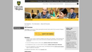 UR Courses | UR Courses, University of Regina
