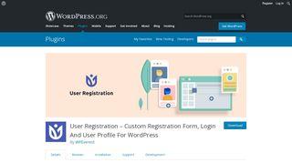 User Registration – Custom Registration Form, Login And ...