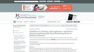 Validation of a Wireless, Self-Application, Ambulatory ... - JCSM