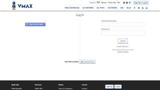 VMAX Dashboard Login for App Monetization