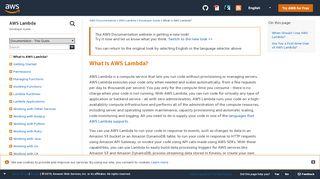 What Is AWS Lambda? - AWS Lambda