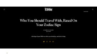 Who You Should Travel With, Based On Your Zodiac Sign ...