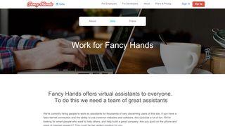 Work at Fancy Hands