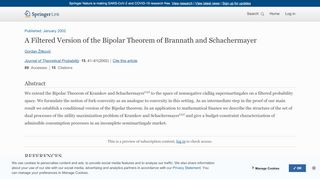 A Filtered Version of the Bipolar Theorem of Brannath and ...