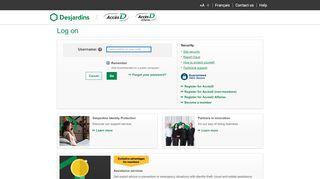 AccèsD AccèsD Affaires - Log on   Desjardins