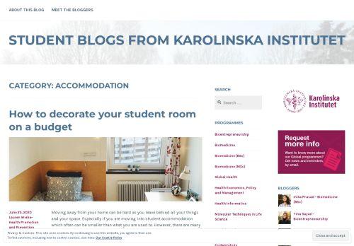 Accommodation – Student blogs from Karolinska Institutet