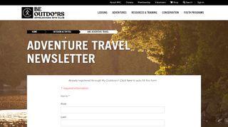 Adventure Travel Newsletter Sign-up   AMC