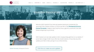 AEDC Investor Resources | Make updates to your account & more