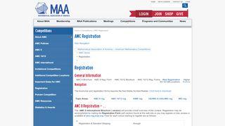 AMC Registration   Mathematical Association of America