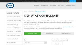 AMC   Sign up as a consultant - AMC Cookware