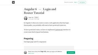 Angular 6 — Login and Router Tutorial – Özgür GÜL – Medium