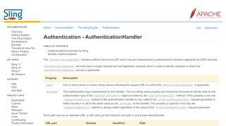 Apache Sling :: Authentication - AuthenticationHandler