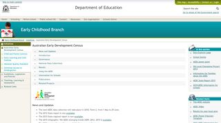 Australian Early Development Census - Early Childhood Branch - The ...