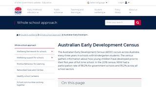 Australian Early Development Census | Whole school approach