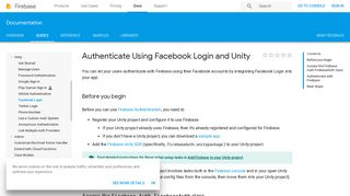 Authenticate Using Facebook Login and Unity | Firebase