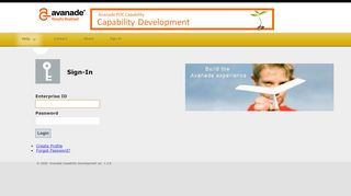 Avanade Capabilty Development: Sign-In
