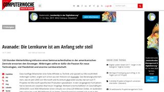 Avanade: Die Lernkurve ist am Anfang sehr steil - computerwoche.de