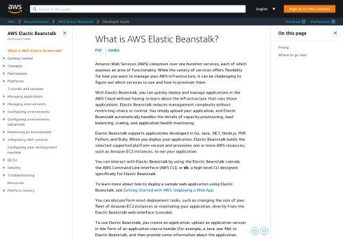 AWS Elastic Beanstalk - AWS Documentation