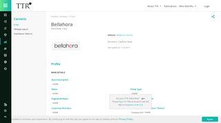 Bellahora - TTR - Transactional Track Record