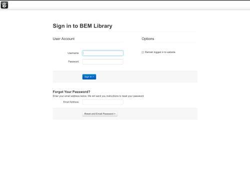 BEM Library :: Login