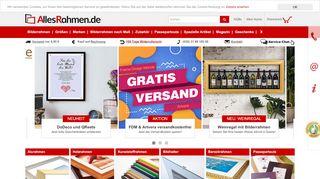 Bilderrahmen kaufen im Online-Shop von AllesRahmen.de