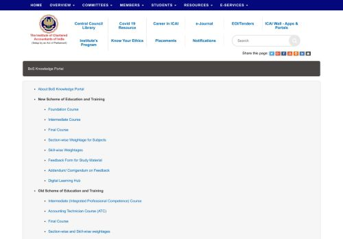 BoS Knowledge Portal - ICAI - The Institute ...