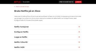 Bruke Netflix på en Xbox - Netflix Help Center