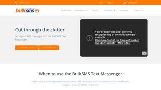 BulkSMS Text Messenger, Desktop SMS   BulkSMS.com