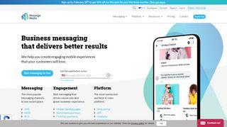 Business Messaging & SMS Gateway   Text & API   MessageMedia ...