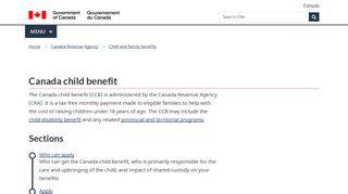 Canada child benefit - Overview - Canada.ca