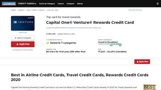 Capital One Venture Rewards Credit Card Review   U.S. ...