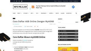 Cara Daftar ASB Online Dengan MyASNB - Info Pelajar