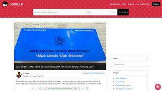 Cara Untuk Daftar ASNB Secara Online, Dah Tak Payah Beratur ...