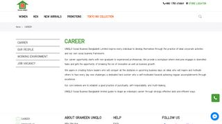 career - Grameen UNIQLO