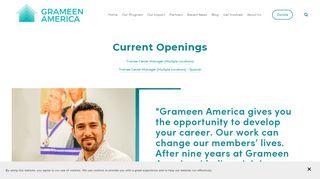 Careers — Grameen America