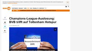 Champions-League-Auslosung: BVB trifft auf Tottenham Hotspur