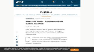Champions League: Bayern, BVB, Schalke - drei deutsch-englische ...