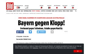 Champions League: FC Bayern, BVB, Schalke – die Achtelfinal ...
